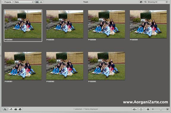 No guardes fotos duplicadas o muchas que sena la misma imagen - AorganiZarte