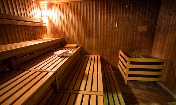 Saunagänge fördern den Regenerationsprozess.