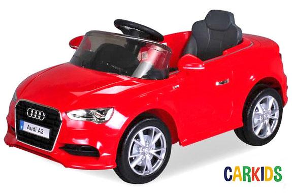 zoom sur la voiture lectrique audi a3 sline radiocommand e rouge cr ateur de. Black Bedroom Furniture Sets. Home Design Ideas