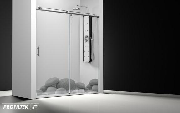 Mampara de ducha frontal corredera Profiltek Wind WI-210