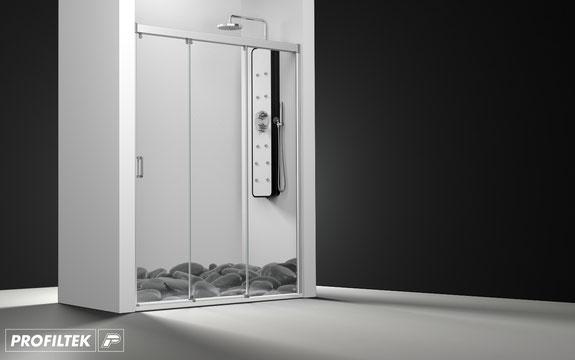 Mampara de ducha frontal corredera Profiltek Nell NE-210