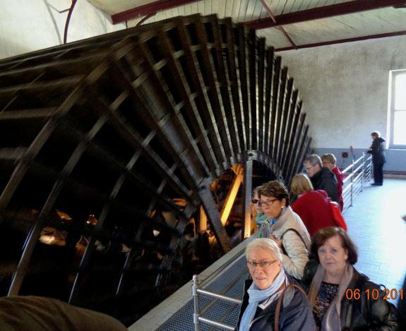 Moulin amenant l'eau du canal, l'énergie nécessaire pour le fonctionnement