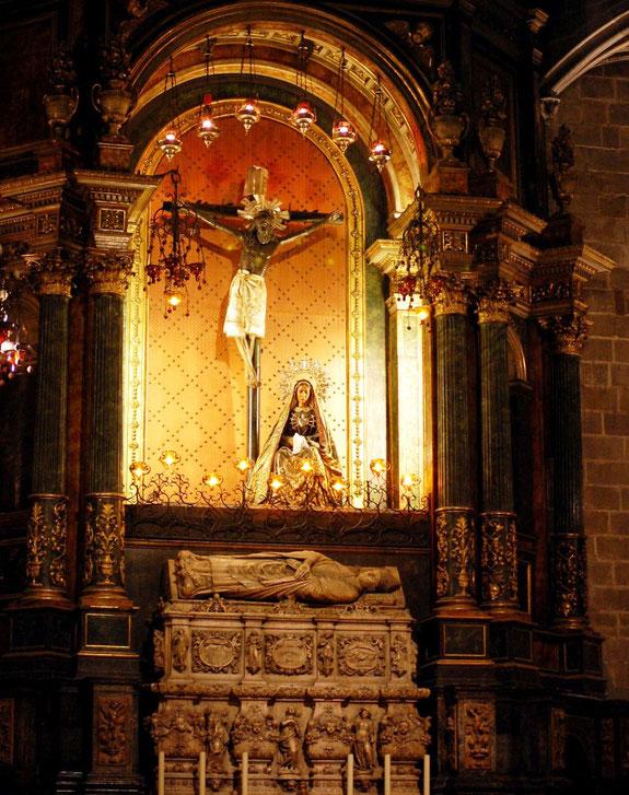 Кафедральный собор Барселоны. Христом Лепантский