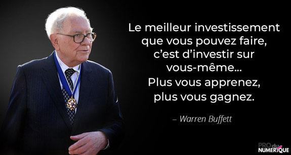 Warren Buffet est un fervent supporter de l'investissement passif.
