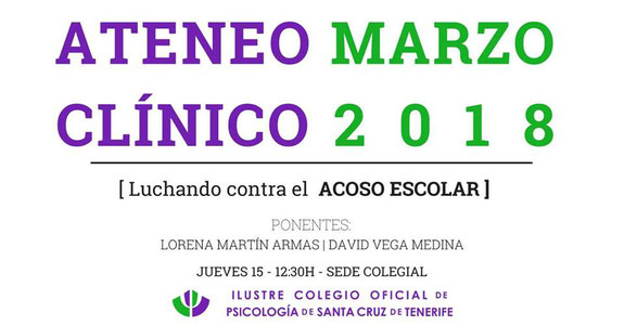 Ateneo Clínico - Luchando contra el acoso escolar - Tenerife, Canarias
