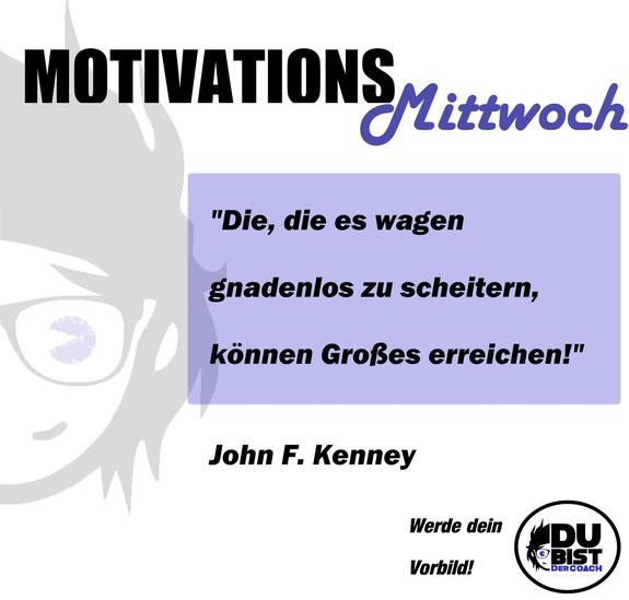 Kennedy John F Motivation Großes Wagen Risiko Vorbild Abnehmen Gewichtsverlust Diät Ernährung