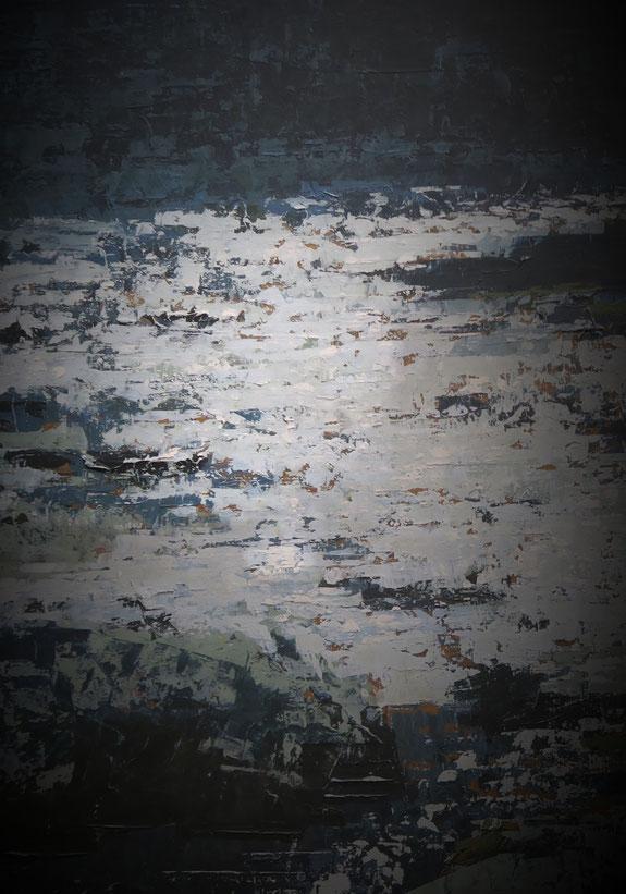 Gemälde mit Russ-Ablagerung
