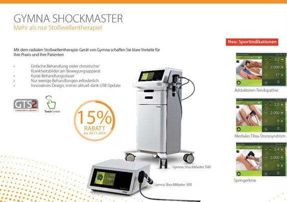 Herbstaktion 2014 - Gymna ShockMaster - 15 % Rabatt