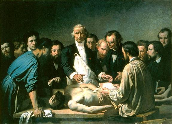 "Auguste Feyen, ""Lezioni di anatomia"",  1864"