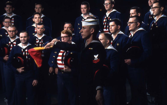 """The Mike Douglas Show"" .. I was a 22  year old Navy Signalman, stationed aboard the USS New Jersey, BB-62"