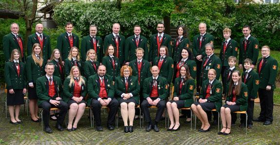 Gruppenfoto des Musikvereins Hainersdorf