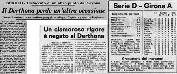 1977-78 DERTHONA - SESTRI LEVANTE 1-1