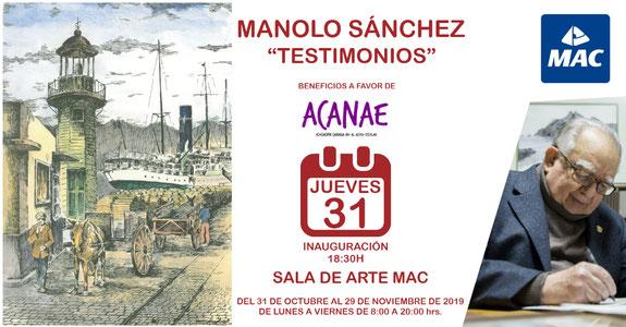 Exposición de arte a favor de ACANAE en la Sala MAC en Santa Cruz de Tenerife