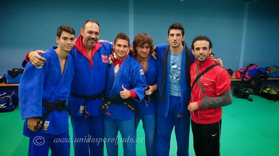 Equipo senior de izq. a decha. Samuel Moriano, Javier Moriano, David Ambrona, Quique Sánchez, Adrian Manzanares y Carlos Arroyo