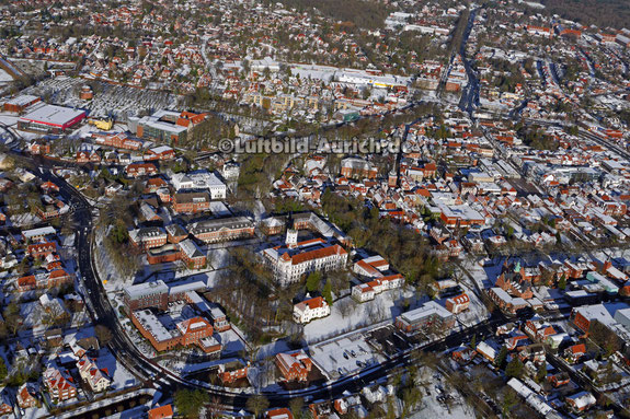 Aurich Schloß im Schnee