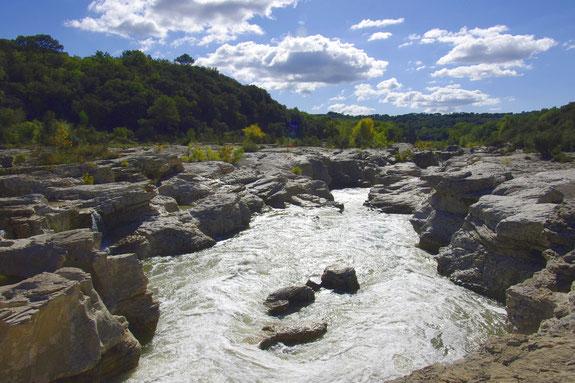 Die Sautadet Wasserfälle in der Nähe von la Roque-sur-Cèze