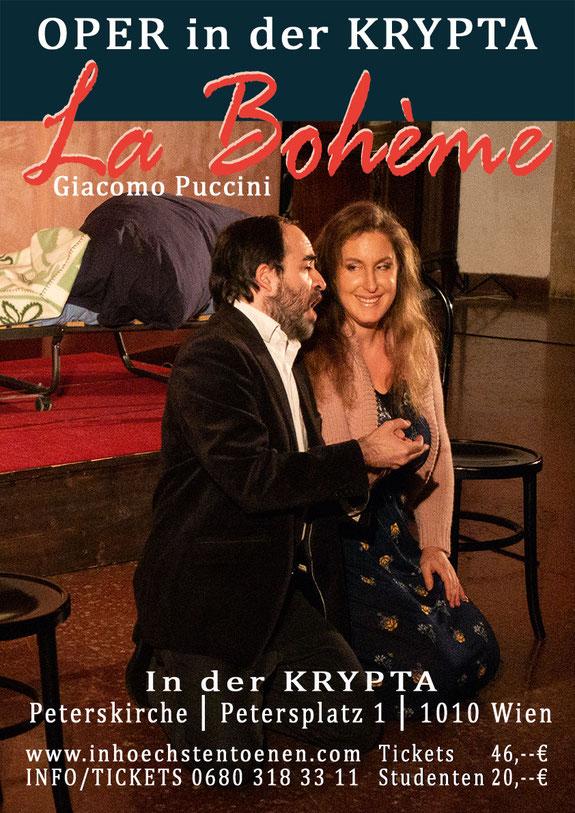LA BOHÈME, Giacomo Puccini in der Krypta