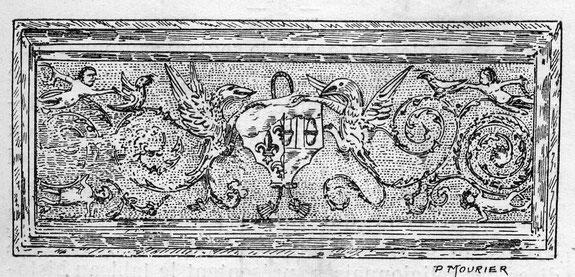 Plaque de cheminée Renaissance style italien - Château de Saveilles - Saveille - Château fort Charente - Visite de château groupe - Visite château en famille - Château de la Renaissance - Château en Charente