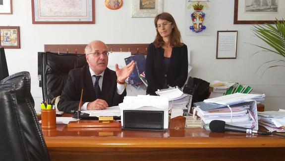 Il procuratore capo della repubblica presso il tribunale di Frosinone il dottor De Falco ed il Pm Trotta