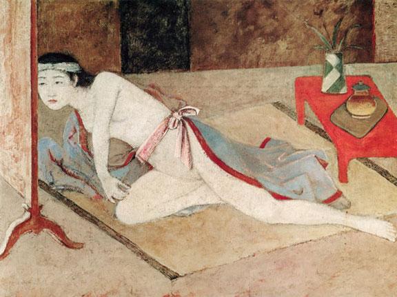 ※1:バルテュス《朱色の肌と日本の女》1967-1976年