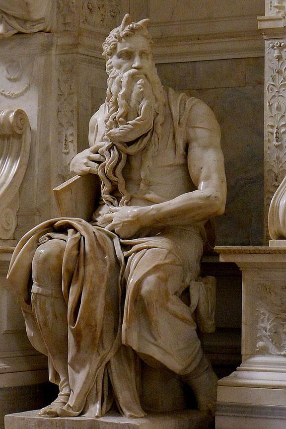 ミケランジェロ『モーセ』,ユリウス2世の墓(1505-1545)、サン・ピエトロ教会