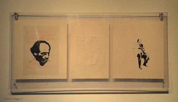 Sofiane Zouggar, mohammed dib, contemporary algerian art, archive and art, archivePCA, algerian communist party, partie communiste algerien,la grande maison, saraj, caravansaray, mohammed badsi, installation art, hariq, les montagnes et les hommes