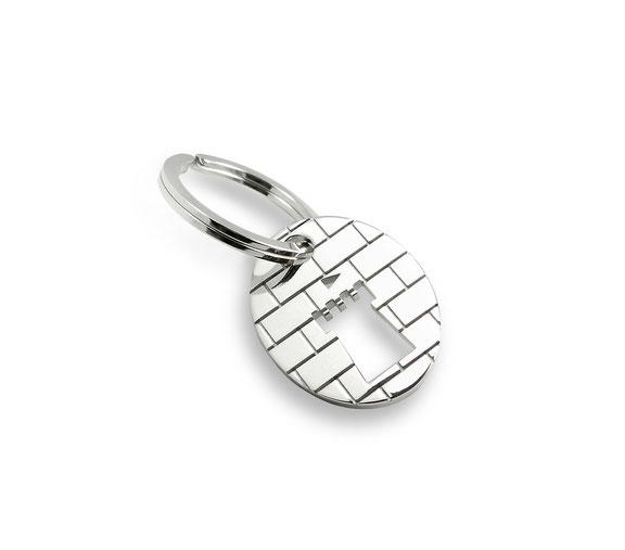 """silberner schlüsselring anhänger """"my home is my castle"""" Burg mauer schloss castle silver key ring pendant Housewarming gift umzug geschenk"""