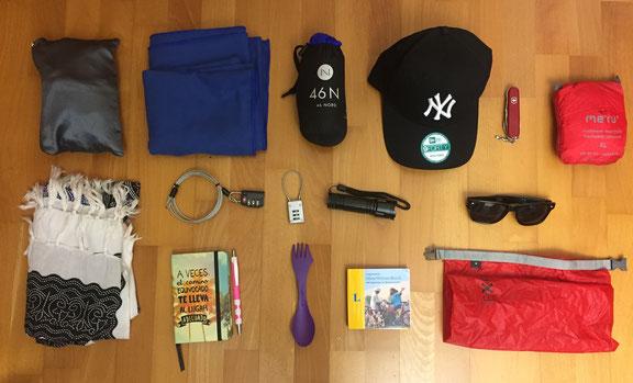 Dinge für eine Weltreise, Geschenkidee, Utensilien, Packen, Sonstiges, Weltreise