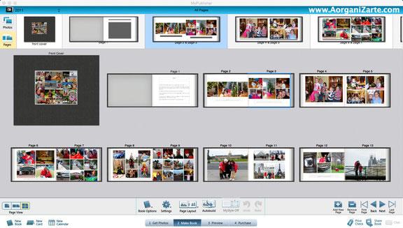Organiza tus fotos y súbelas online para crear tu propio álbum