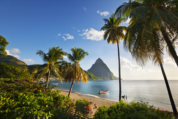 Vulkan Gros Petit Piton Saint Lucia, Karibik, Karibische Inseln