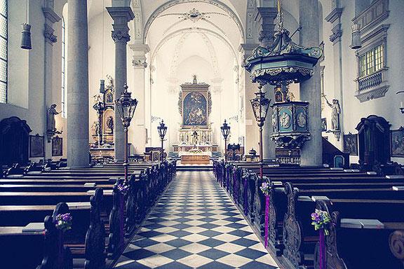 Hochzeitsfotos in der Maxkirche in Düsseldorf