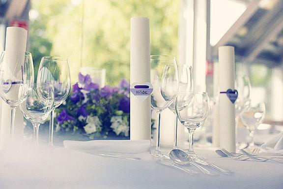 Hochzeitsfotografie von der Hochzeitsdekoration in Düsseldorf