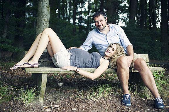 Babybauch Fotoshooting in Osnabrück im Wald