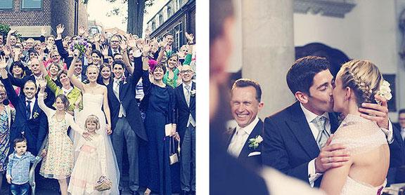 Gruppenfotos und Portraits auf der Hochzeit in Osnabrück fotografiert