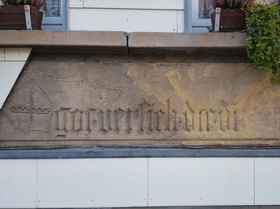 Altstadtrundgang Otterberg, Türsturz Klosterhospital