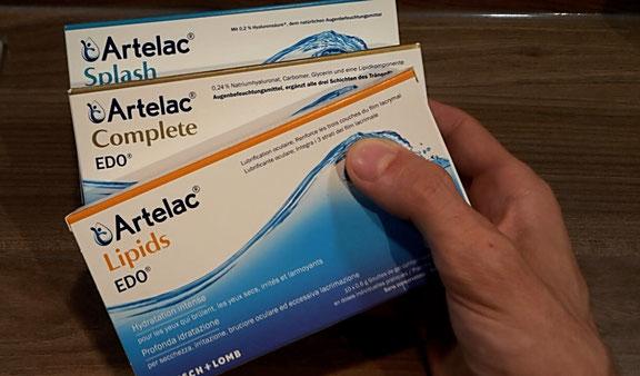 Artelac Splash,  Artelac Lipids,  Artelac Complete
