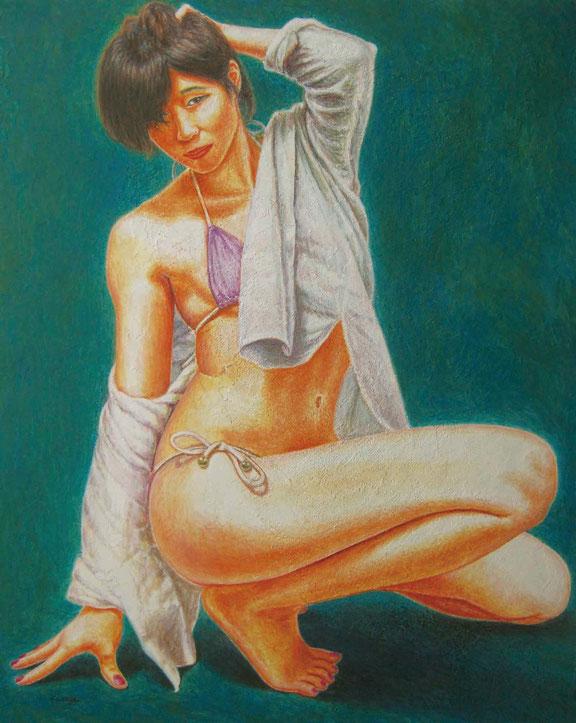 第25回 日本の美術 〜全国選抜作家展〜 出展作品  《  新章 〜モデル:杏莉 百音〜 》