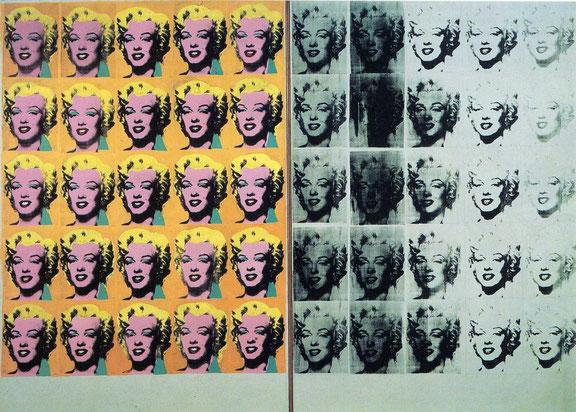 Диптих Мэрилин - самые известные работы Энди Уорхола