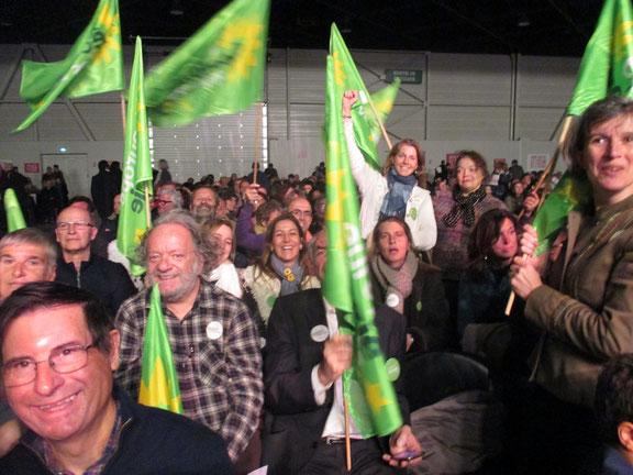 Les écologistes soutiennent Benoît HAMON lors de son meeting à Marseille