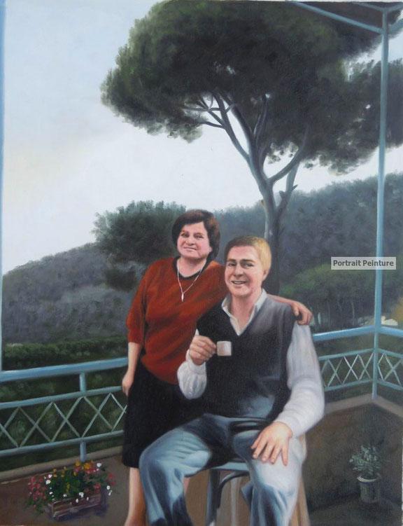 portrait-peinture-couple-parent