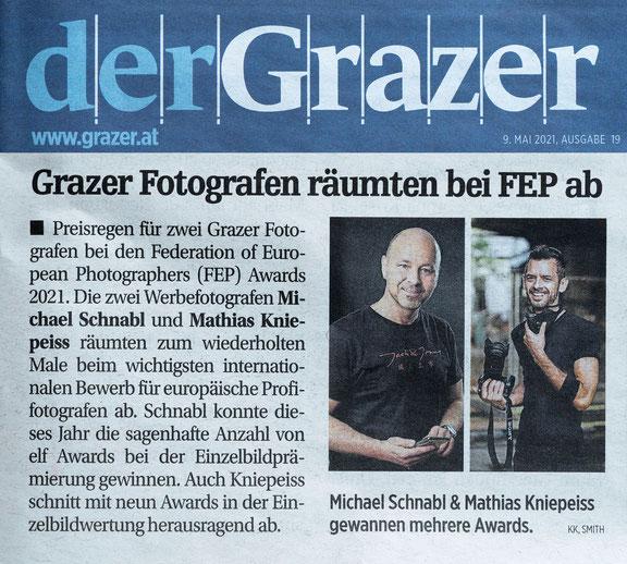 Michael Schnabl gewinnt elf Awards bei den FEP Awards 2021, Mathias Kniepeiss gewinnt neun der begehrten Auszeichnungen - Bericht im Grazer
