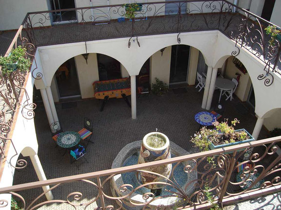 Patio de la maison d'hôte Al Pati