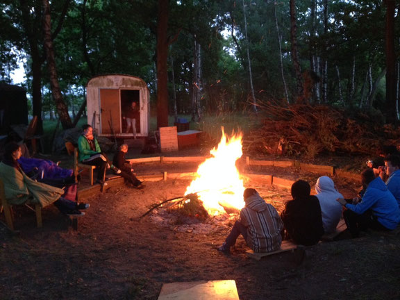 Pfingsten 2015: Noch ist es etwas kalt in Loccum - im Sommerlager wird es hoffentlich wärmer.