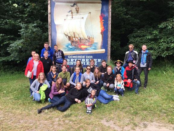 Teamer-Fahrt zu den Störtebecker-Festspielen auf Rügen.