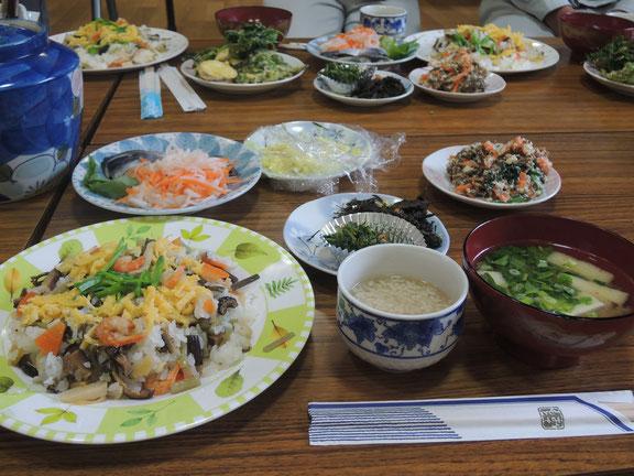 今日の千屋の郷土料理8品