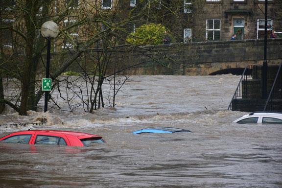 Überflutung durch Hochwasser
