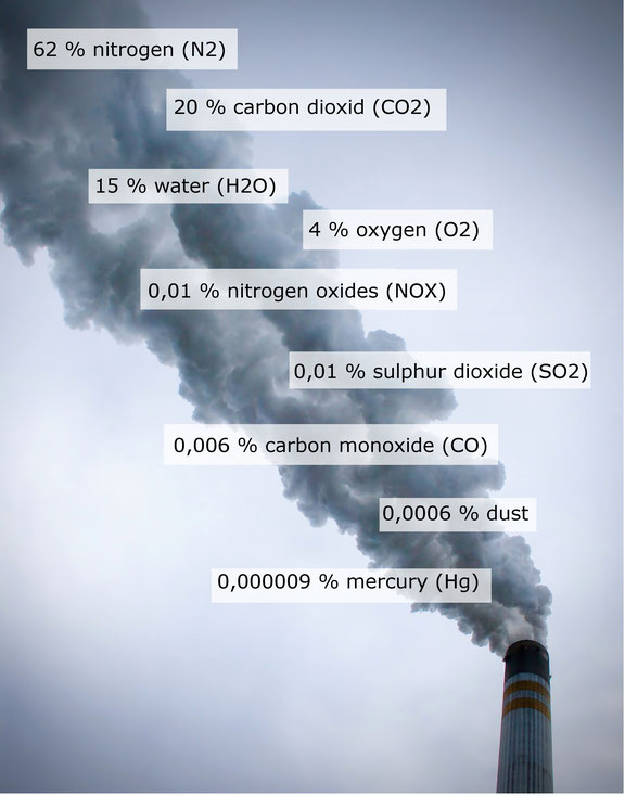 Emissions of a Lignite Power Plant