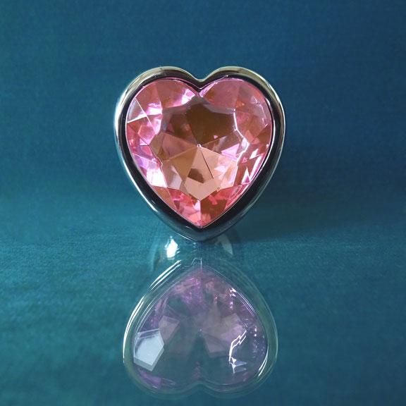 heart butt plug diamond plug pink heart plug pink anal plug buttplug heart pink roze buttplug roze anaal plug buttplug met hart buttplug met hartje rose