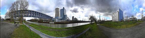 360° Panorama freihand Neues Uniper Kraftwerk