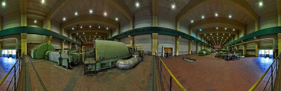 360° Panorama Turbinenraum 8 Aufnahmen